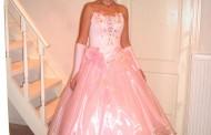 Rózsaszín koszorúslány ruha